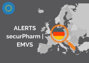 Alerts in securPharm, NMVS, EMVO